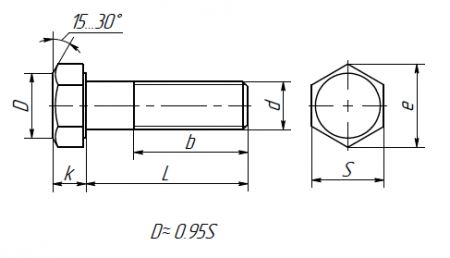 Schraube mit Sechskantkopf DIN EN ISO 4017-2015 (DIN 933,DIN 931-1) ISO 4014:2011, ISO 4017:2014