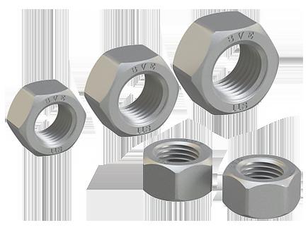 Sechskantmutter für Befestigung der hochfesten Metallkonstruktionen mit vergrößerter Schlüsselweite DIN EN 14399-3-2015 (DIN 6915), ISO 4775:1984